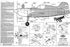 Lucky Racer model airplane plan