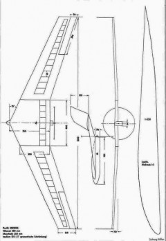 Lupila Rolf Wassermann model airplane plan