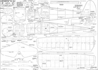 Luscomb 8A Skypal JJ model airplane plan
