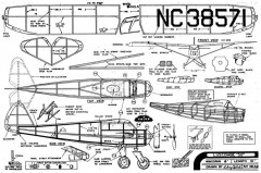 Luscombe 50 model airplane plan