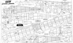 Luscombe Silvaire KK 40in model airplane plan