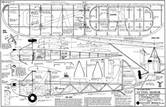 Luton Minor model airplane plan