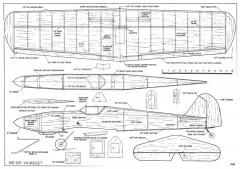 ME-109 model airplane plan