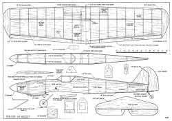 ME-109 model airplane plan