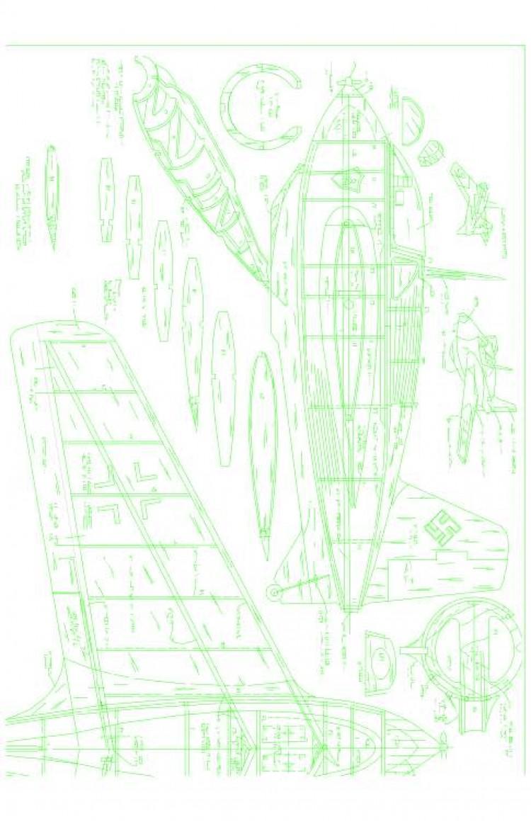 ME163B1 Model 1 model airplane plan