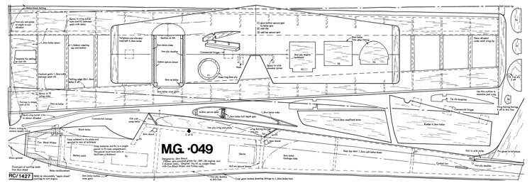 MG-049 model airplane plan