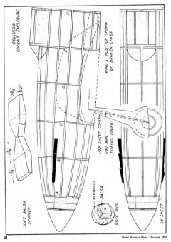 MIG1 model airplane plan