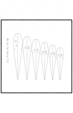 MMustang-ribs Model 1 model airplane plan