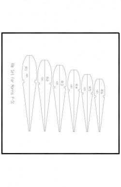 MMustang-ribs Model 1 model airplane plan