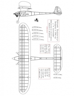 MOHBUZZ Model 1 model airplane plan