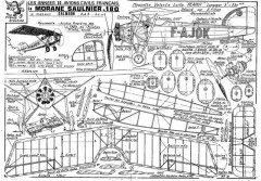 MORANE SAULNIER 180 model airplane plan