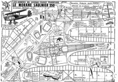 MORANE SAULNIER 350 model airplane plan