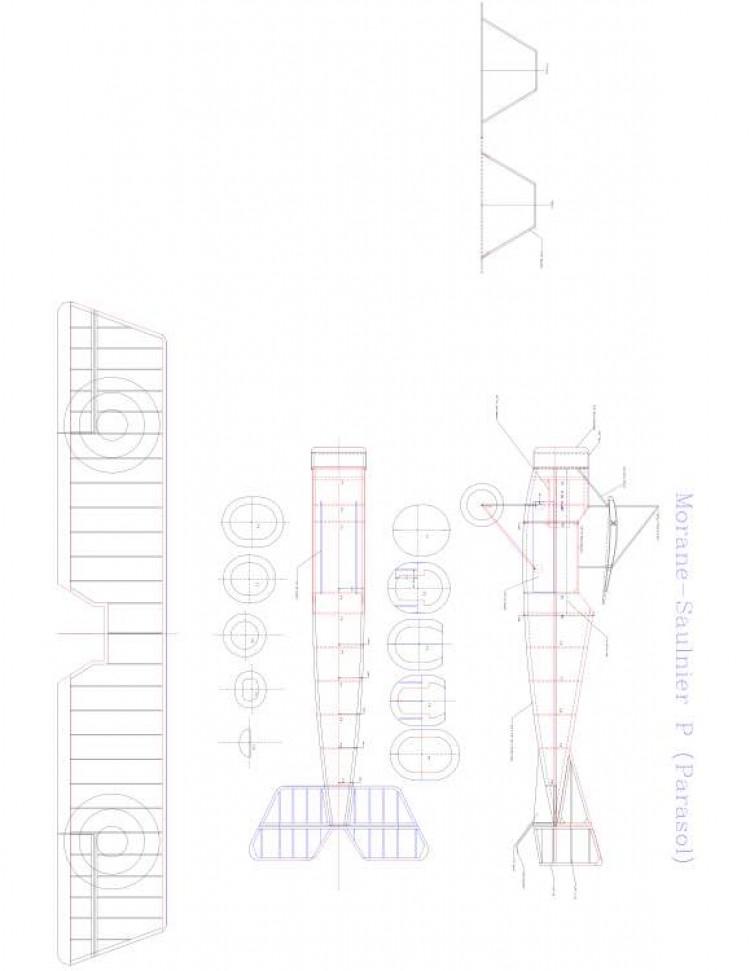 MORANE-SAULNIER P Model 1 model airplane plan