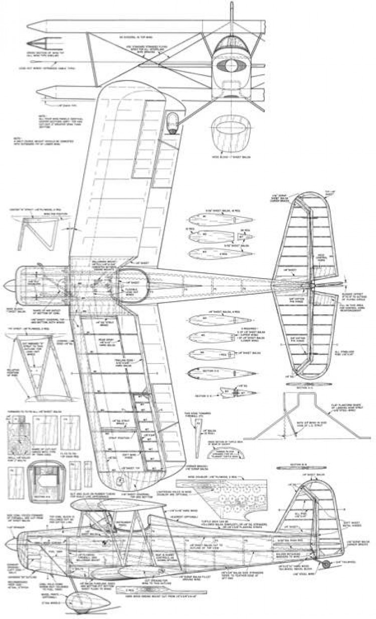 Mac the Bipe-American Modeler-11-12-1963 model airplane plan