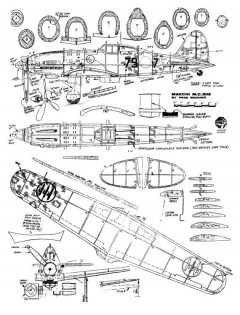 Macchi 202 Bruning model airplane plan