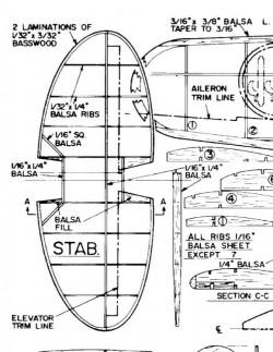 MacchiFolgore202 model airplane plan