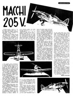 Macchi C-205 V only Fuselage model airplane plan