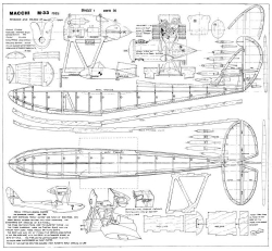 Macchi M33 model airplane plan