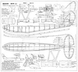 Macchi M33 model airplane plan