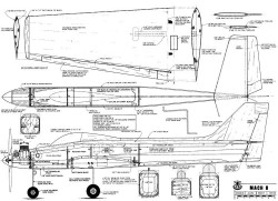 Mach 8 model airplane plan