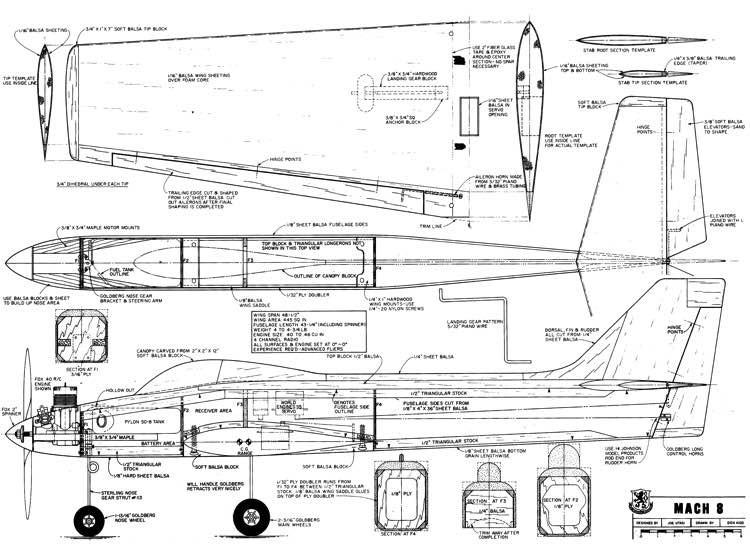 Mach 8 model airplane plan