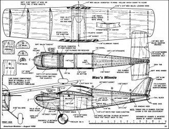 Mac's Minnie model airplane plan
