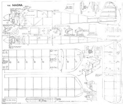 Magna 38in model airplane plan