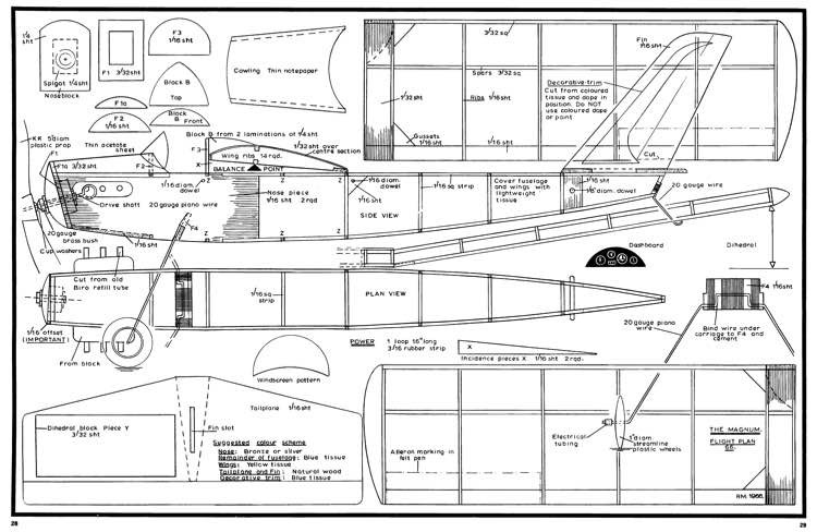 Magnum model airplane plan