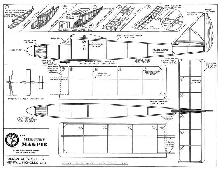 Magpie mercury model airplane plan