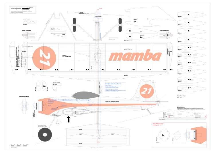 Mamba-Bauplan model airplane plan