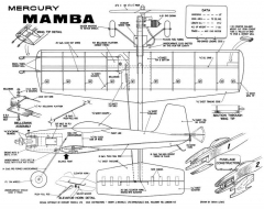 Mamba mercury model airplane plan