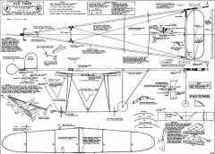 Mann Grimmer 1913 Twin Pusher model airplane plan