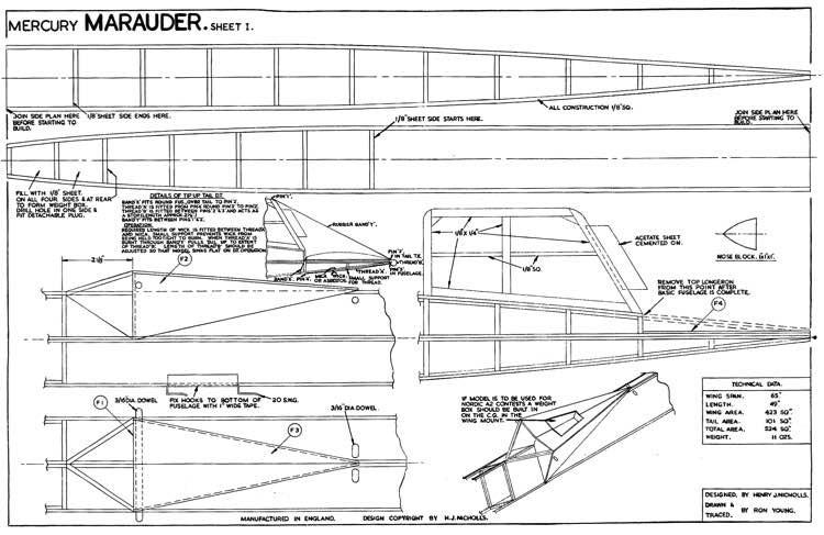 Marauder model airplane plan