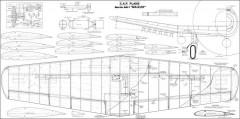 Martin AM-1 Mauler 69in model airplane plan