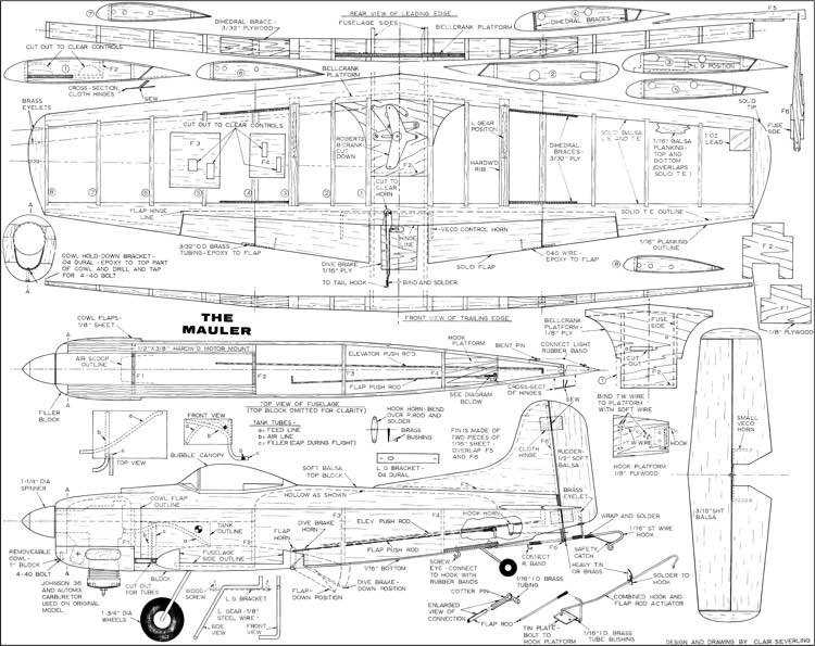 Martin AM Mauler model airplane plan