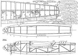 Martin B-26 Marauder 72in model airplane plan