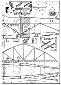 Martin Dive Bomber p2 model airplane plan