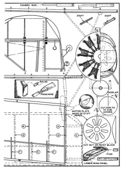 Martin Dive Bomber p4 model airplane plan