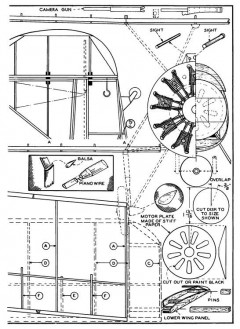 Martin Dive Bomber p4 model airplane plan
