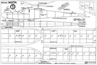 Martin mercury model airplane plan