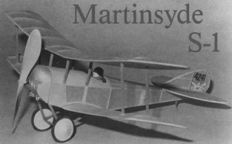 Martinsyde S-1 model airplane plan