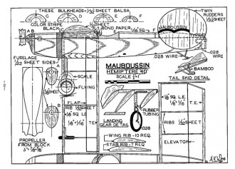 Mauboussin-MAN-05-38 model airplane plan