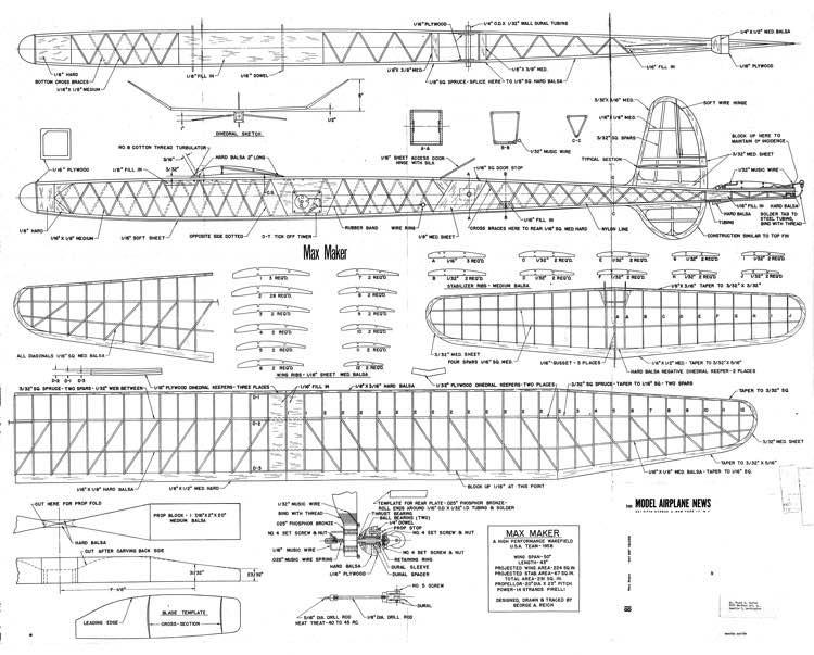 Max Maker MAN Reich model airplane plan
