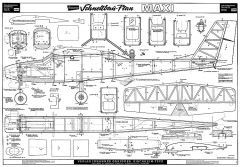 Maxi Graupner-4639 model airplane plan
