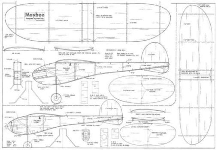 Maybee model airplane plan