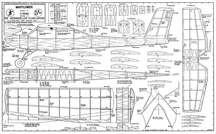 Mayflower model airplane plan