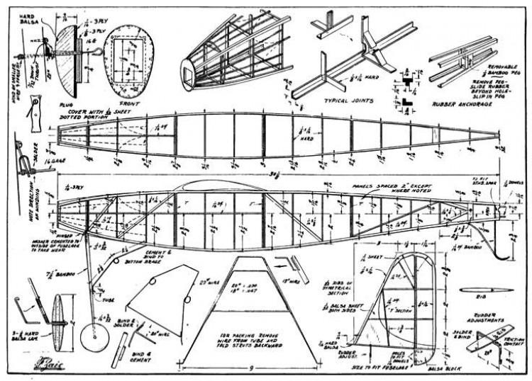 Mayfly 2 Wake p1 model airplane plan