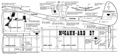 McCann-ard 27 model airplane plan