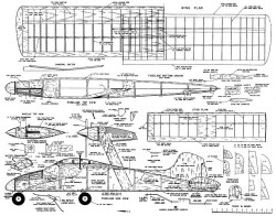McCullough Chariot model airplane plan