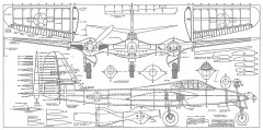 McDonnell XP-67 Interceptor model airplane plan